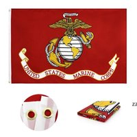 United States Marine Corps Flag Double Stitching Alta Qualidade EUA Bandeiras Americanas Banner Garden Supplies 90 * 150cm HWA6072