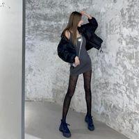 디자이너 13 드 마르 다이아몬드 글자 실크 스타킹 여성용 검은 색 섹시한 바닥 양말