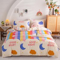 Bedding Sets Student Dormitory All Cotton Thickened Frosted Three Piece Set Four Bed Sheet Quilt Cover