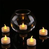 3.5 * 4.5 سم أدى شموع الشاي tealight ضوء عديمة اللهب ضوء البطارية الصفراء الملونة تعمل حفل زفاف عيد الميلاد الديكور HWF8284