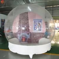Globo della neve gonfiabile di Dia di 3m per esposizione all'aperto o della foto della bolla di neve gonfiabile della foto di tiro della foto in vendita