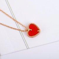 S925 Silver Stud Boucle d'oreille Coeur de coeur avec Agate rouge pour femme Bijoux de mariage Cadeau Cadeau Bracelet Ensemble PS4221