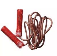 14ss School Aerobic упражнения прыгать веревки фитнес кожаный канат пропуск регулируемый скорость подшипника фитнес бокс обучение красное высокое качество