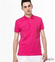 A5 alta qualidade crocodilo polo camisa homens sólido algodão shorts polo verão casual polo homme t - shirts polos poloshirt