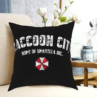Cushion Decorative Pillow Raccoon City Home Of Umbrella Pillowcase Soft Polyester Cushion Cover Decorations Throw Case Zippered 40X40cm