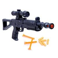 1 pc Shooting Guns espuma blaster jogo de batalha realista suprimentos ar leved brinquedo rival redondo macio eva bala meninos