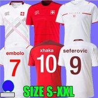 2021 سويسرا Soccer Jerseys Home Away 21 22 Suisse Embolo Shaqiri Elvedi Zakaria Fernandes Rodriguez زرع Behrami Seeferovic كرة القدم قمصان المشجعين