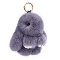 Keychains Fur Pompon Keychain Trinket Women Toy Pompom Key Ring On Bag Car Chain Jewelry Year Gift