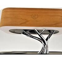 Multifunción LED Lámpara de mesa Altavoz Auto Sleep Teléfono móvil Cargador inalámbrico Diseño de árbol de árbol de decoración del hogar Luz de gabinete