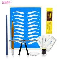 Kit de máquinas Atomus profissional Tebori Microblading caneta para maquiagem permanente manual de sobrancelha Tatuagem 3D Munsu