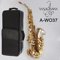 Japan Yanagisawa Alto Saxophone A-WO37 Silver plated gold key body beautifully carved Alto Sax professional playing instrument