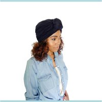 Beanie Skl Caps Hats, Scarves & Gloves Aessories Bohemian Fashion Womens Hat Knot Cotton Headwear Lady Beanies Turban Hats Aesso Sqcnqh Drop