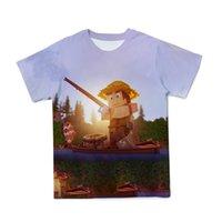 T shirtsummer gioco popolare minecraft mio mondo intorno ai cartoni animati per bambini carino manica corta t-shirt 3D