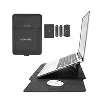 Boîtier de couverture compacte de protection pour ordinateur portable, imperméable et pliable en cuir PU avec support de souris
