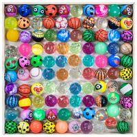ABD Hisse Senedi Gece Lambası Kartları Elmas Meyve Büküm Elastik Top Çocuk Atlama Topu Oyuncaklar Sentetik Kauçuk Oyuncaklar Eğlenceli Aydınlık