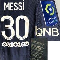 Home Têxtil 2021 Correspondente Jogador desgastado Messi Maillot Sergio Ramos Di Maria NEIMAR JR MBAPPE Nome do Número de Futebol Patch Badge