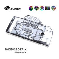 Fans & Coolings Bykski GPU Water Block For Colorful IGame Geforce RTX 3090 3080 24G 10G ,With Back Plate Watercooler ,N-IG3090ZF-X