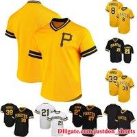 Herren Pittsburgh 8 Willie Stargell 39 Dave Parker 1971 Roberto Clemente 1982 Kent Tekulve 1982 Willie Stargell Baseball Jerseys Hemden