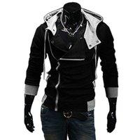 メンズパーカースウェット2021サイドジッパーパッチワーク男性カジュアルアサシンクリーード服メンズとスーダデラホモブレ