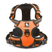 Wahre Liebe einstellbar No-Pull Hundegurt Reflektierende Welpenweste Gurte Komfortable Kontrolle Brillante Farben Truelove (S, Orange)