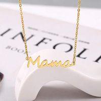 Letra delicada Mamá Collar Madres Amar a la Joyería Colgante Mejor Collar Minimal para Mamás Madre Cumpleaños Día de la Madre Regalos-Z 156 U2