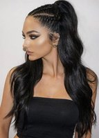 Long high Body wave brazilian hair ponytail human women clip extension for special holiday hairstyle drawstring pony tail hairpiece 140g
