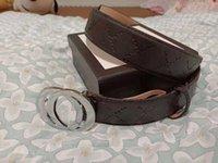 Toptan kadınlar ve erkekler için kemerler deri altın gümüş siyah g toka tasarımcı kemer erkek lüks 3 renkler kutusu ile 38 mm