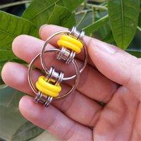 Catena di bicicletta a rotelle catena del giocattolo del giocattolo della mano del giocattolo del vibring del cubo della chiave del cubo della chiave per lo stress dell'autismo