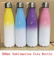 17oz Sublimation Cola Botella de colores de colores con la capa de sublimación Color Cambio de COLA Botellas de cola 500 ml Botella de bebida de acero inoxidable RRA4197