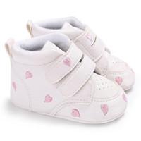 Bebê Sapatos de Verão Bebé Coração Menino Menino Crianças Sófica Sapatos Sapatos Sapatilhas Pu Casual Anti-Slip Estrelas Imprimir Primeiros Anda