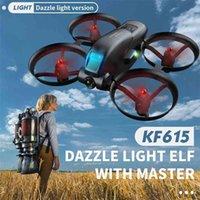 Cevennesfe kf615 mini drone 4k hd câmera wifi fpv altura de pressão manter dobrável quadcopter rc drones brinquedos presentes 210726