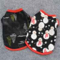 Dog Apparel PUOUPUOU Warm Cartoon Clothes Winter Jacket Christmas Pet Clothing Sweatshirt For Small Medium Dogs Puppy Outfit XS-L
