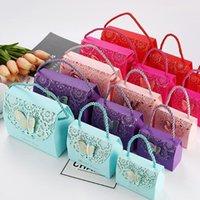 50 unids 3D Flores estereoscópicas y mariposas Favores de boda Bolsa de regalo para huéspedes Baby Shower Caja Caja de Cumpleaños Party Bolsa de caramelo
