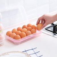 10 grilles boîtes d'œuf en plastique brisent les œufs résistants organisateur conteneur conteneur outils de cuisine Réfrigérateur Food Boîte de rangement frais GWA8476