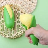 Exotic peeled milho banana squishy simulação criativo brinquedo lala le ventante fruta beliscar complicado para aliviar o desabo engraçado do tédio