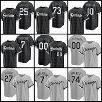 Chicago 2021 Nouveau Jersey de baseball Sox Sox Sox 7 Tim Anderson 74 Eloy Jimenez 27 Lucas Giolito 10 Yoan Moncada 25 Andrew Vaughn 79 Jose Abru 73 Yermin Mercedes Beige