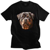 Erkek T-Shirt Yakışıklı Erkek Rottweiler Köpek Tee Kısa Kollu O-Boyun Pamuk T-Shirt Yaz Metzgerhund Lover T Shirt Boy Giyim Tops