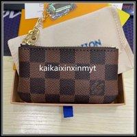 Porte-clé Fashion Femme Femme Hommes Bague Carte de crédit Porte-monnaie Monnaies de luxe Mini portefeuille sac à main en cuir