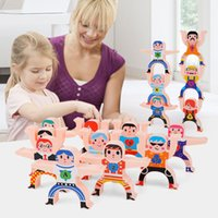 US STOCK Children's Hercules Stack high The Toys of Diediele Human Pyramid Parent Child Building Blocks Decompression Toys