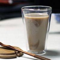 440ML Starbucks Mugs Double Layer Anti-Scalding Water Bottle Cup Coffee Juice Mug Glass Material Skinny Tumbler Simple Design Gift Product