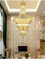 Novo lustre de luz de cristal de luxo para escadaria moderna loft cadeia iluminação luminárias decoração lar lâmpadas cristal