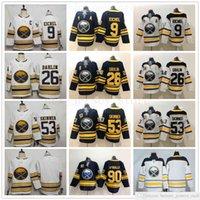 news 50th Gold Buffalo Sabres Hockey 9 Jack Eichel Jersey White 26 Rasmus Dahlin 53 Jeff Skinner Jersey Navy Blue Ryan O'Reilly Sam Reinhart