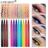 Handaiyan 12 Farbtöne Farbiger Gel Eyeliner Bleistift Multicolor Liner Wasserdichte Matte Schnell Trockener Sweet Beweis Langlern nicht leicht, Makeup Bleistifte zu schmumpeln