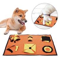 70 * 45 سنتيمتر الكلب لغز لعبة كلب استنشاقة حصيرة الحيوانات الأليفة الشفخ سادة تغذية حصيرة جرو القطط ممل التفاعلية لعبة التدريب بطانية
