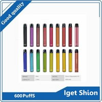 IGET SHION Cigarros descartáveis Cigarros Kit de dispositivo 600 puffs 400mAh Bateria 2.4ml Cartucho Prefilado Vape Pen vs Air Bar Lux Xtra Plus XXL