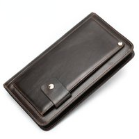 Hot selling men's Leather Wallet Handbag leisure fashion personalized handbag multi card retro wallet 9019