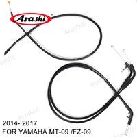 Arashi voor Yamaha MT-09 / FZ-09 2014 - 2017 2015 2016 Clutch Thottle Cables Draden Lijnen Zwart