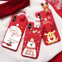 السنة الجديدة 3D سيليكون الدب القضية ل xiaomi mi a1 a2 a2 5x 6x 8 لايت 9 se cc9e ل redmi note 5 6 7 برو s2 عيد الميلاد الأيائل tpu coque
