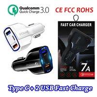 USB C Araç Şarj Çift Bağlantı Noktası USB Hızlı Şarj Tipi C Kompakt Güç Adaptörü Pd QC3.0 iPhone Samsung Huawei Paketi Ile