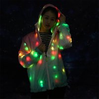 Party Decoration RE37 Rave Wears Led Jacket Ballroom Dance Costumes Colorful Light Women Dress Singer Perform Clothe Glowing Outfit Bar